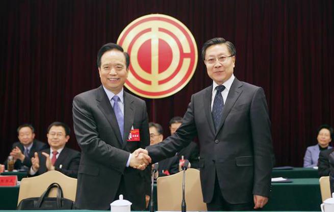 王东明当选中华全国总工会主席